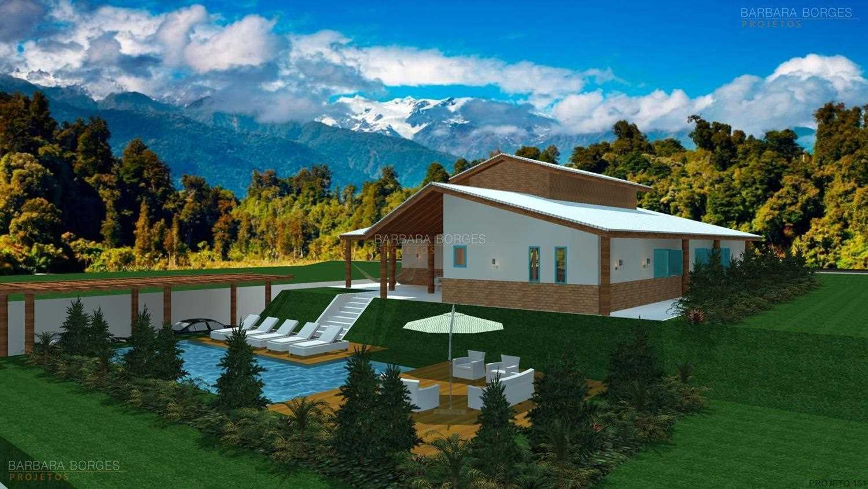 projetos casas com piscinas