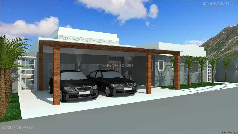 projetos casas garagem