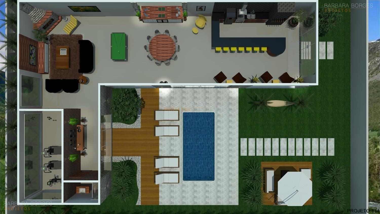 Projetos de Casa Barbara Borges Projetos 3D #1A4566 1500 844