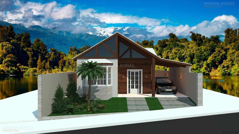 projeto casa de campo pequena