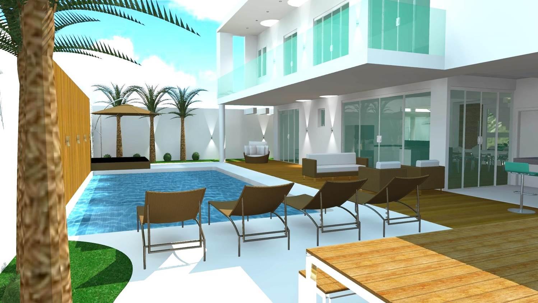 Projetos de Casas e Plantas de Casas CONSTRUÇÃO Área Externa  #AA7822 1498 843