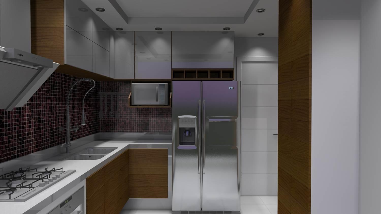 Projetos de Cozinhas Barbara Borges Projetos 3D #594938 1500 843