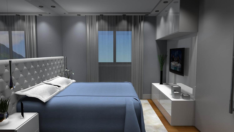 Projetos De Quartos De Casal Barbara Borges Projetos 3d ~ Quarto Casal Moderno Decorado E Quarto Pequeno Decoracao