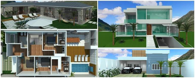 fachadas-de-casas-projetos-de-sobrados-e-plantas-em-3D