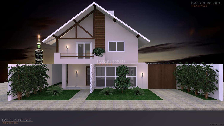Fachadas de casas barbara borges projetos 3d for Modelos de casas fachadas fotos
