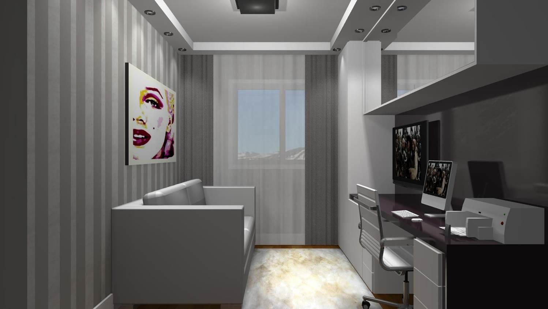projetos de home office barbara borges projetos 3d. Black Bedroom Furniture Sets. Home Design Ideas