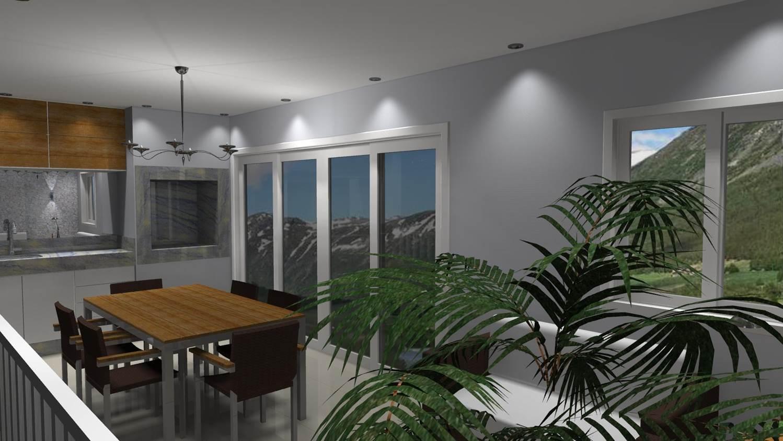 Projetos de Varanda Gourmet Barbara Borges Projetos 3D #674926 1498 843