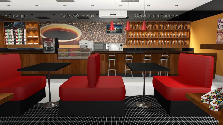 Projetos de lojas de conveni ncia barbara borges for Mobiliario para cafes