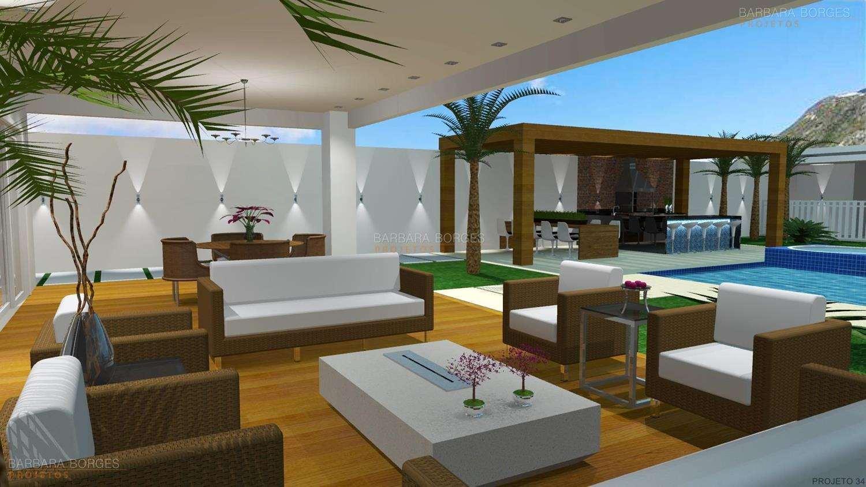 Projetos de Varanda Gourmet Barbara Borges Projetos 3D #1170BA 1500 844