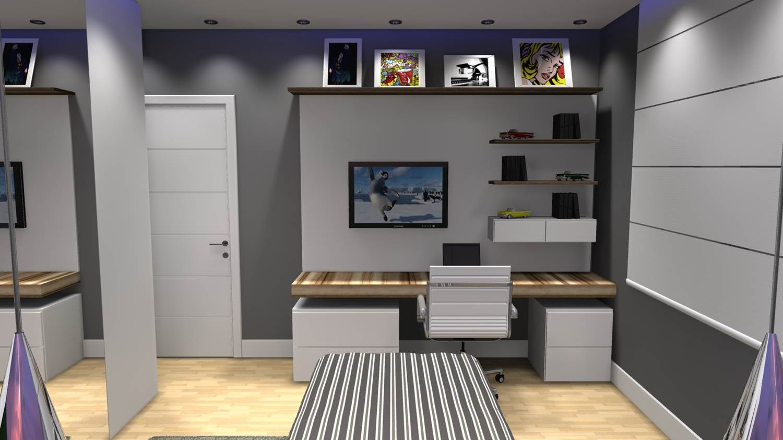 Quarto de menino barbara borges projetos 3d for Modelos de puertas para dormitorios