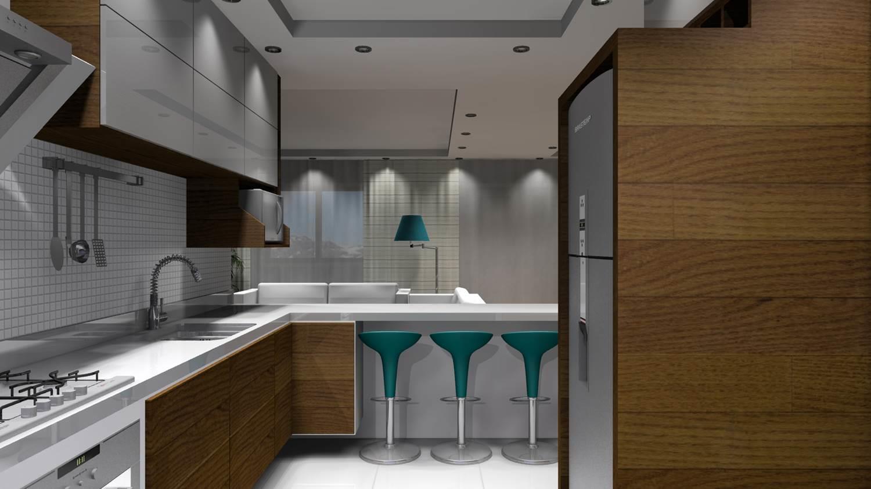 Projetos de Cozinhas Barbara Borges Projetos 3D #614729 1500 843