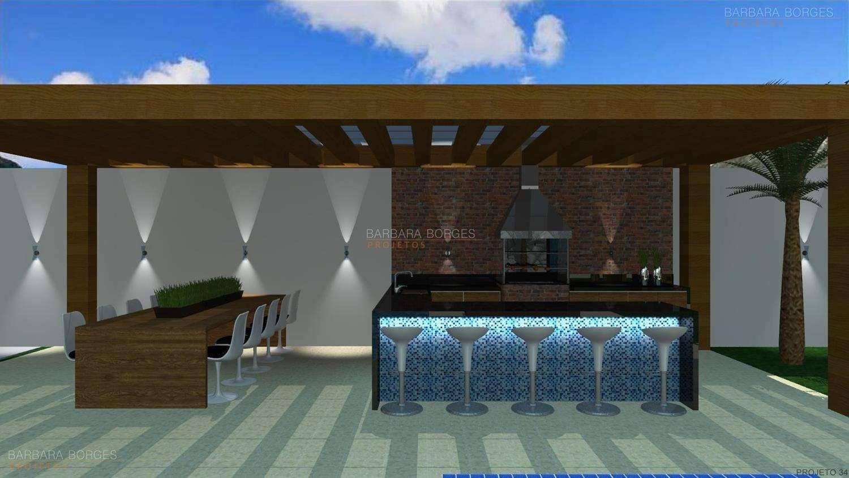 Projetos de Varanda Gourmet Barbara Borges Projetos 3D #1D58AE 1500 844