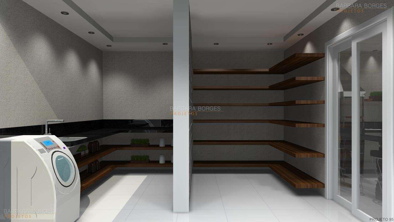 #33302C Projetos de Área de Serviço Barbara Borges Projetos 3D 1500x844 px Projetos Cozinha Lavanderia_5095 Imagens