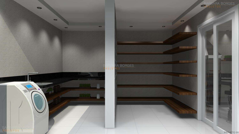 Projetos de Área de Serviço Barbara Borges Projetos 3D #33302C 1500 844