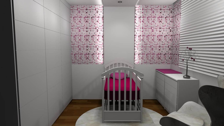 Quartos De Bebe Barbara Borges Projetos 3d ~ Planta Quarto Pequeno Com Moveis P Quarto De Bebe