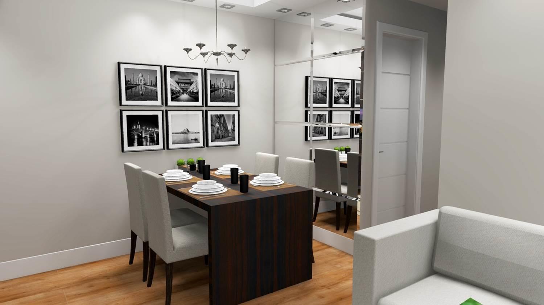 Projetos De Salas De Jantar Barbara Borges Projetos 3d -> Acabamento Sala Pequena