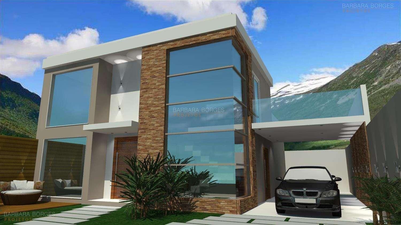 Fachadas de casas barbara borges projetos 3d for Modelos de fachadas modernas