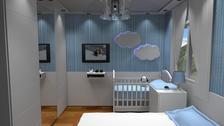 Quartos De Bebe Barbara Borges Projetos 3d ~ Decoração De Quarto De Bebe Pequeno