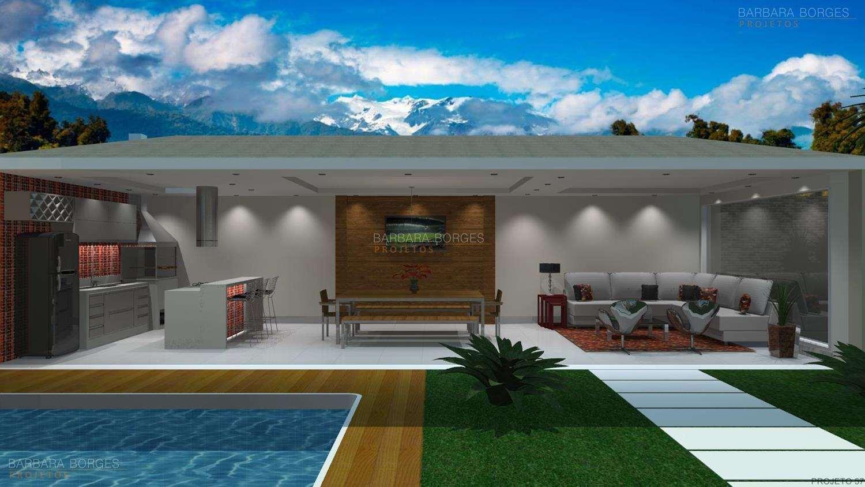 Projetos de Varanda Gourmet Barbara Borges Projetos 3D #097CC2 1500 844
