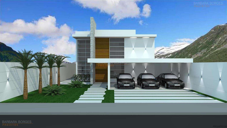 Fachadas de casas barbara borges projetos 3d for Ver frentes de casas modernas