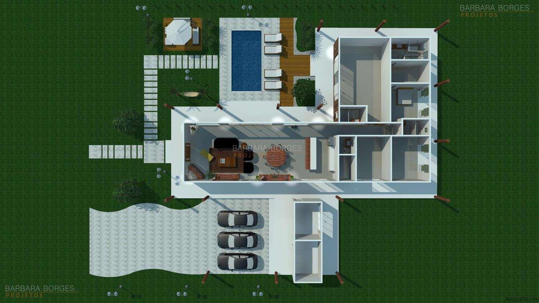 Projetos de Casas Plantas de Casas Barbara Borges Projetos #684924 1500 844