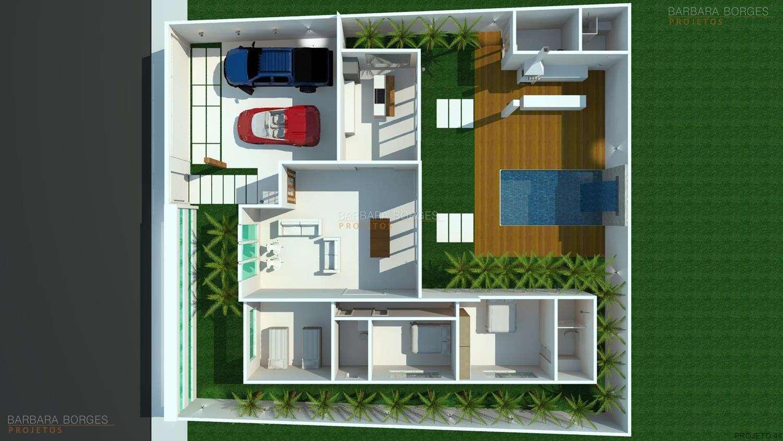 Plantas de Casas e Projetos de Casas Barbara Borges Projetos #7B3B24 1500 844