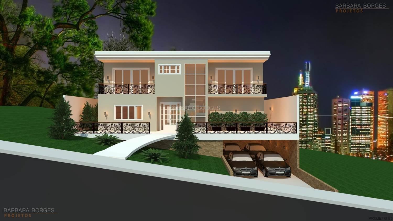 projetos de casas em aclive