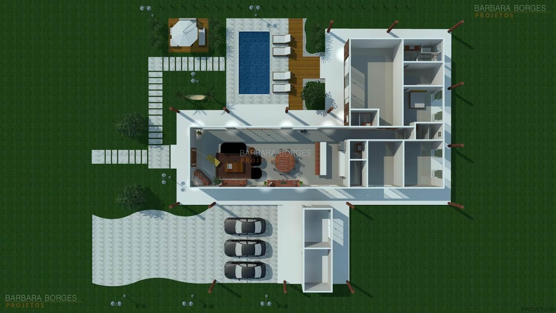 projetos de casas plantas 3d