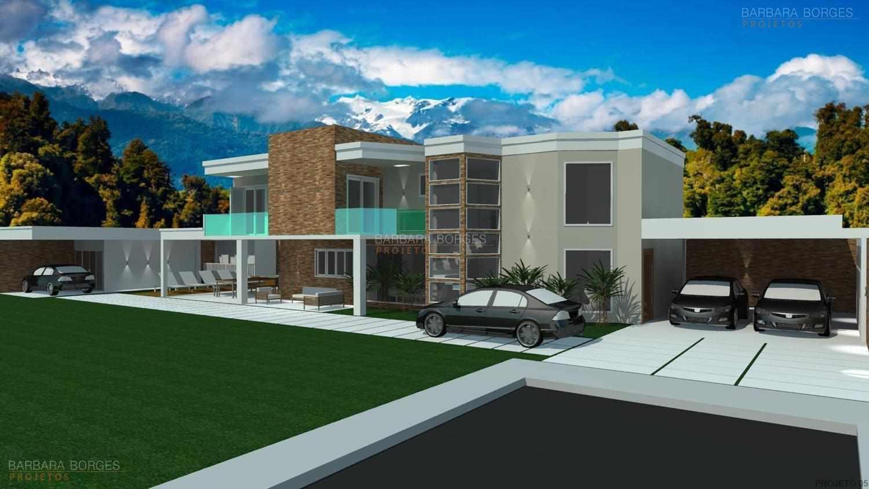 Projetos de casas modernas barbara borges projetos 3d for Casas duplex modernas