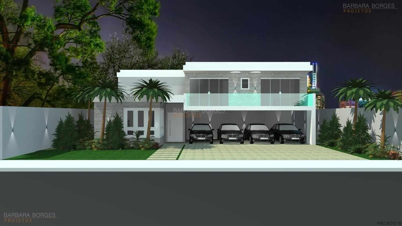 Projetos de casas modernas barbara borges projetos 3d for Plantas de casas tipo 3 modernas