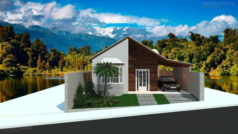 Projetos de casas pequenas barbara borges projetos 3d for Modelos de frente para casas pequenas