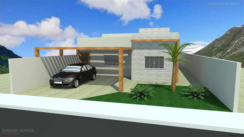 Projetos de casas pequenas barbara borges projetos 3d for Casas modernas simples