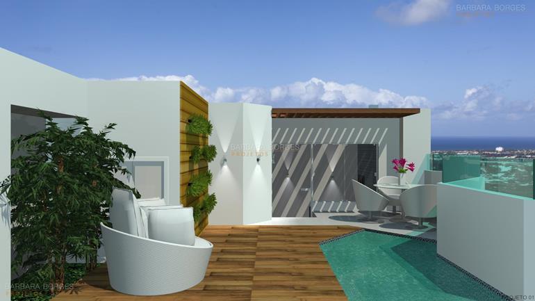 Projeto de Decoração de Interiores e móveis-área-externa