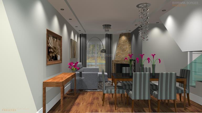 Projeto de Decoração de Interiores e móveis-sala de jantar 02