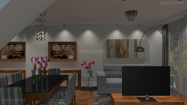 Projeto de Decoração de Interiores e móveis-sala-de-jantar