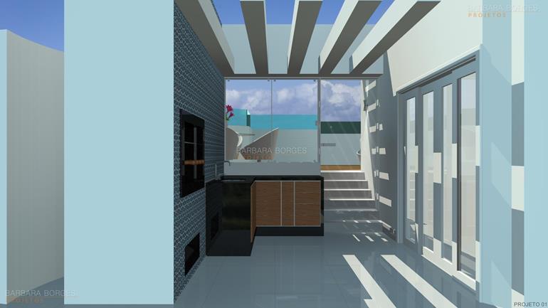 Projeto de Decoração de Interiores e móveis-churrasqueira