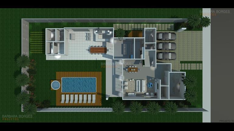 plantas-de-casas-garagem-para-4-carros