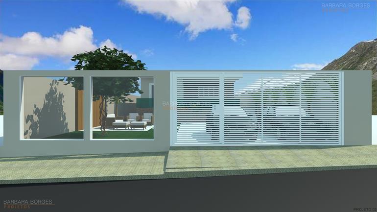Projeto de casa com fachada barbara borges projetos for Modelos de fachadas para frentes de casas