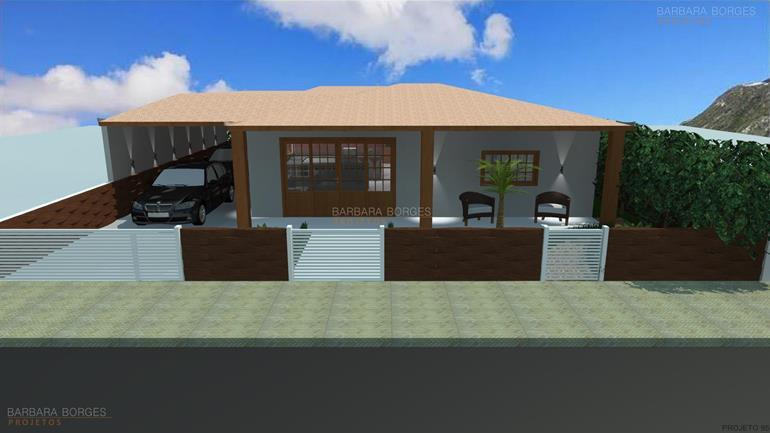Casas 3 quartos 1 suite barbara borges projetos for Modelo de fachadas de viviendas