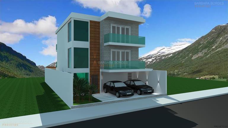 Projetos 3d barbara borges projetos for Materiais para fachadas de casas modernas