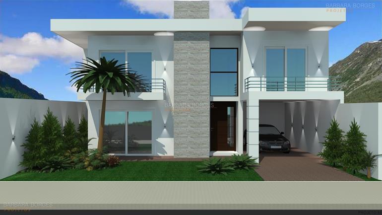 Sobrado sacada barbara borges projetos for Fachadas para apartamentos pequenos