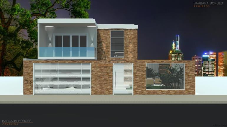 Sobrados projetos casas plantas barbara borges projetos for Modelos de fachadas para frentes de casas