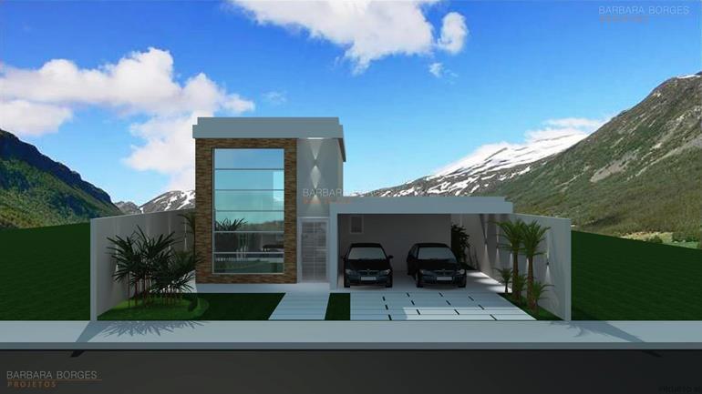 Casas 11 metros frente barbara borges projetos for Modelos de fachadas para frentes de casas