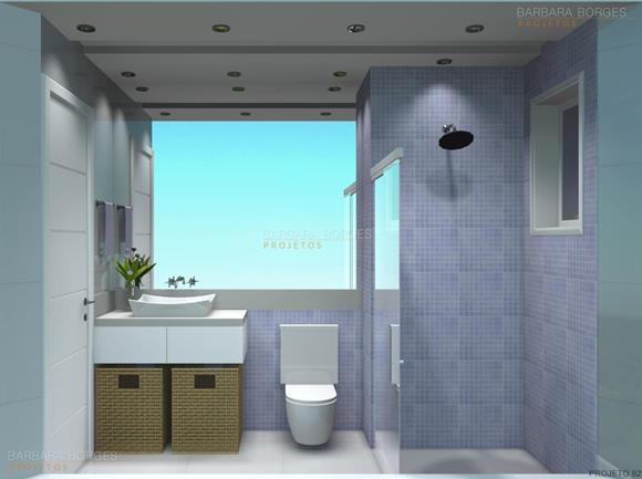 Decoração Banheiros Pequenos  Barbara Borges Projetos -> Decoracao De Banheiro Pequeno Com Plantas