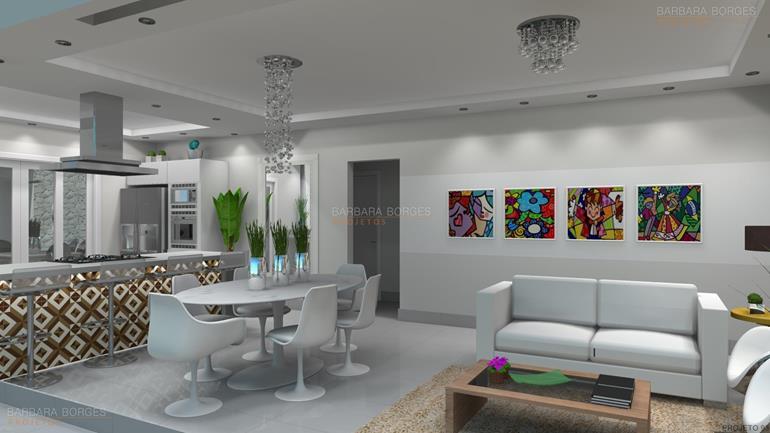 Decoraç u00e3o Moderna Barbara Borges Projetos -> Decoracao De Casas Modernas