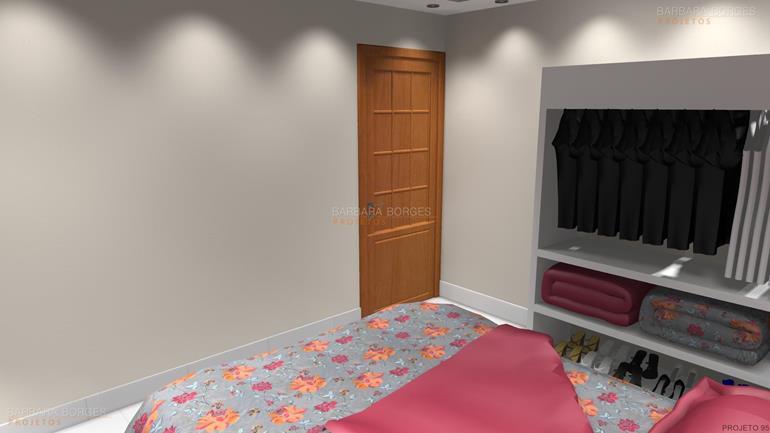 Decoraç u00e3o Quarto Casal Pequeno Barbara Borges Projetos -> Decoração De Interiores Quarto Pequeno