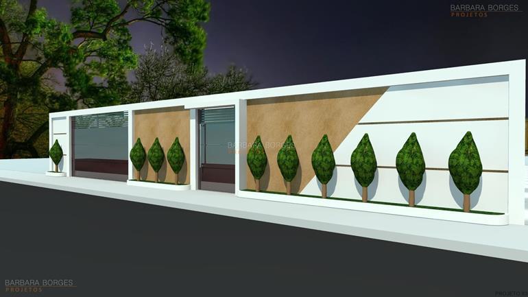 Fachadas muros barbara borges projetos for Modelos de casas fachadas fotos