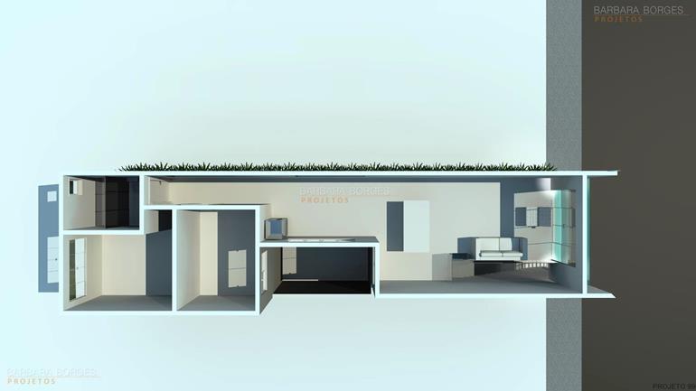 Suficiente Planta Casa 2 Suites 1 Quarto   Barbara Borges Projetos IU03