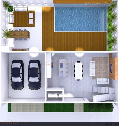 Planta casa sobrado l piscina barbara borges projetos for Plantas de casa para interior