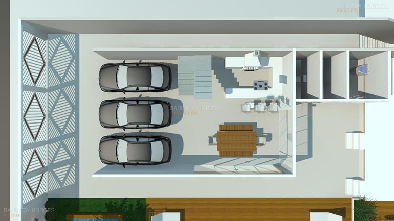 Plantas casas modernas pequenas barbara borges projetos for Plantas de casa para interior